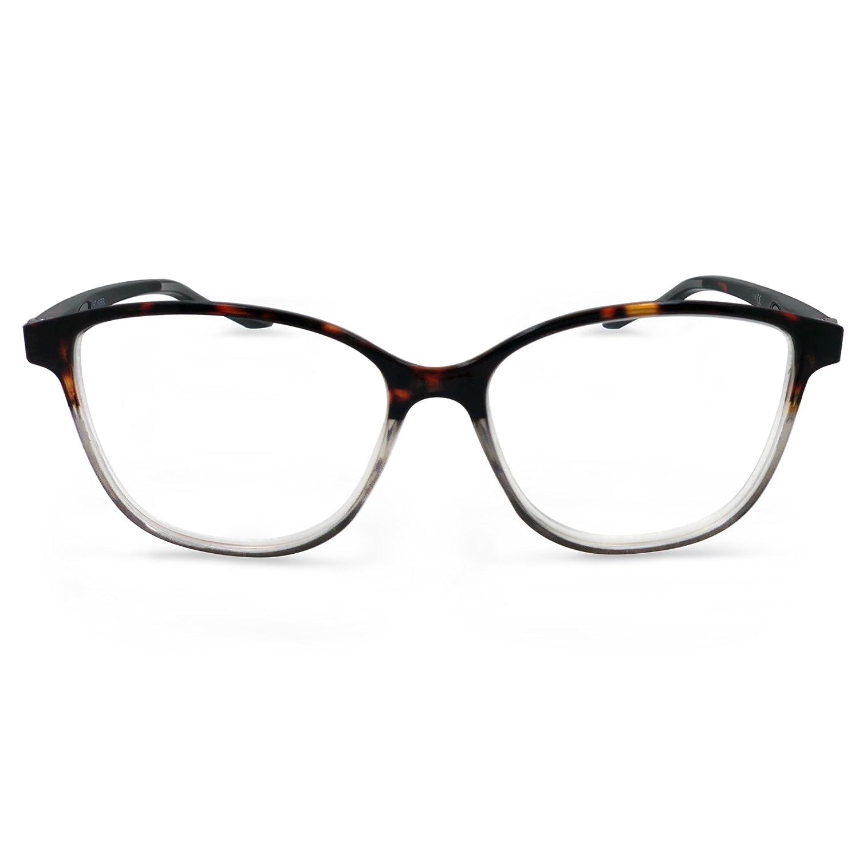 5258ec8427 Amazon.com  In Style Eyes Cateye Two Tone Reading Glasses Tortoise Blue  1.00  Clothing