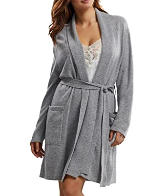 Arlotta Short Cashmere Robe at Amazon Women s Clothing store  01e7e8fb5