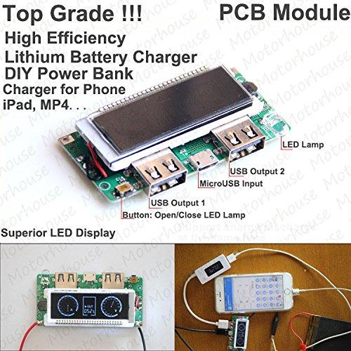 FidgetFidget 5V 2A LCD Dual USB 3.7v Lipo Lithium 18650 Battery Charger Module DIY Power Bank
