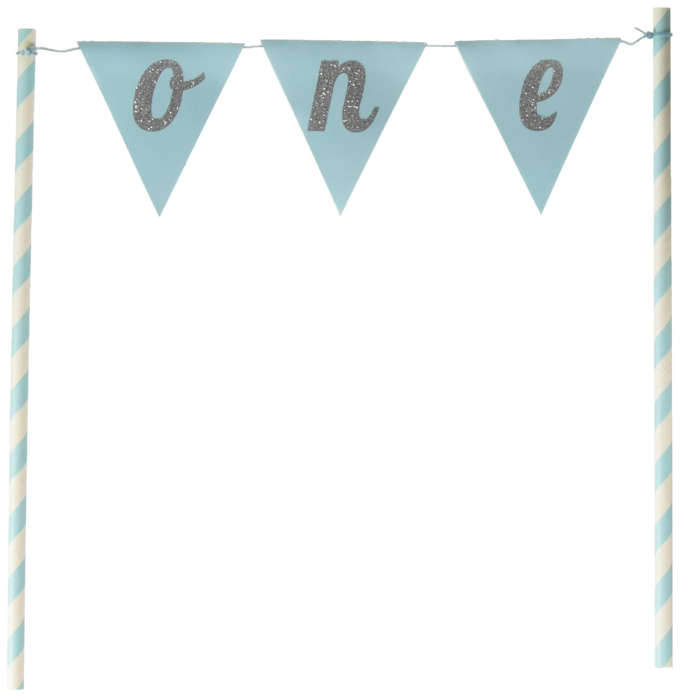 Creative Converting Blue Banner One Cake Topper
