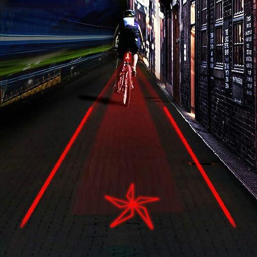 Haplws Luz Trasera de Bicicleta Proyección LED Recargable Luz ...