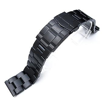 Montre Super En Mm 21 MétalDroitePvd Oyster Bracelet Noir UpVMqLSzG