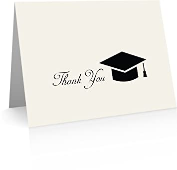 graduation thank you cards 24 foldover cards and envelopes - Graduation Thank You Cards