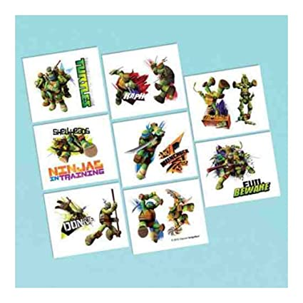 Amazon.com: 16 ct TMNT Teenage Mutant Ninja Turtles Tattoo ...