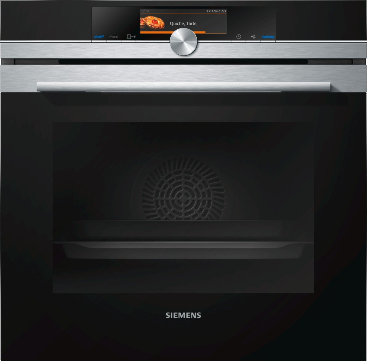 Siemens iQ700 Home Connect Backofen / Home Connect / Wifi remote Control / TFT Touch Display / EEK: A / activeClean / 4D Heissluft [Energieklasse A] HB678GBS6
