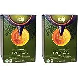 Rishi Tea - Organic Tropical Green, 15 Tea Bags (Pack of 2)