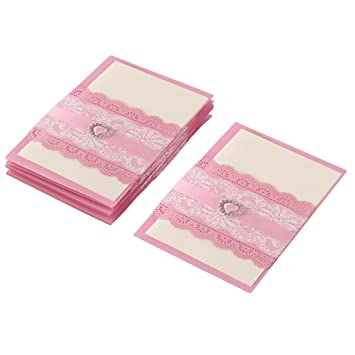 Amazon Com Uxcell Paper Wedding Party Rectangle Heart