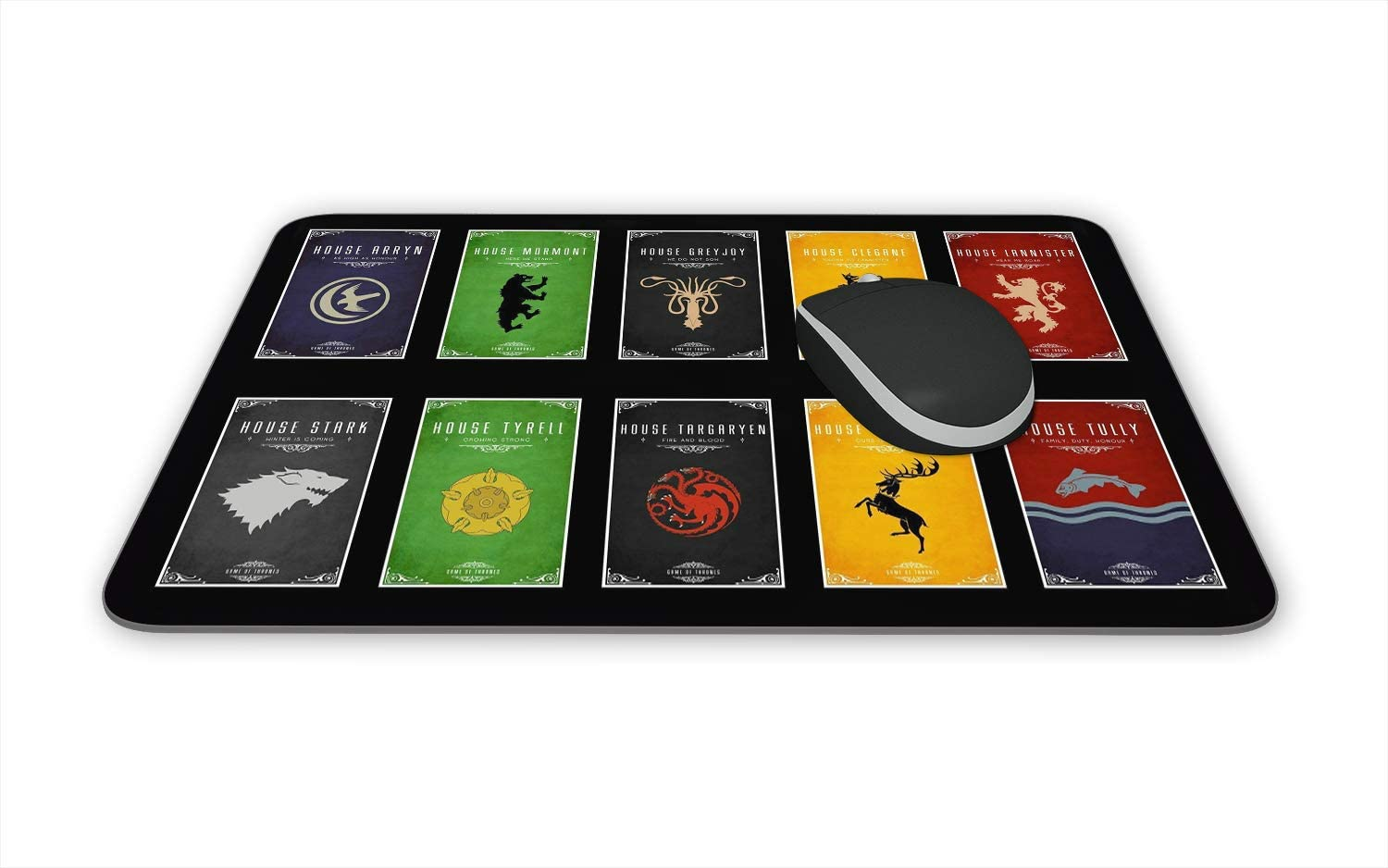 Game of Thrones Custom Mouse Pads Special Series Finale Set of Personalized Mousepads for Games of Throne Fans HBO GOT House Banners