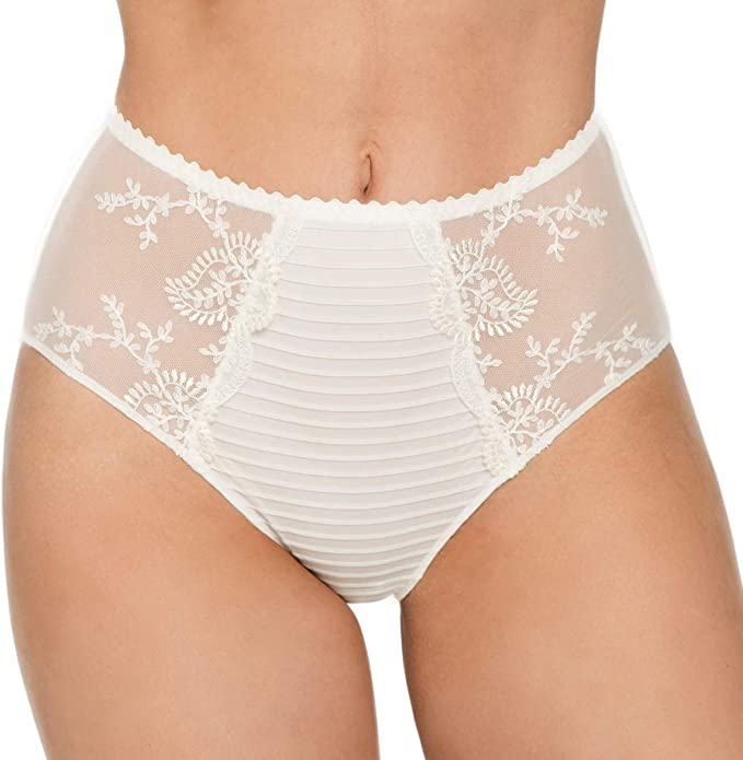 Louisa Bracq 41950 Womens Elise Embroidered Knickers Panty Full Brief