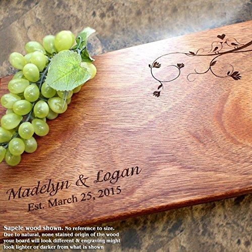 Board, Custom Keepsake, Engraved Serving Cheese Plate, Wedding, Anniversary, Engagement, Housewarming, Birthday, Corporate, Closing Gift #407 ()