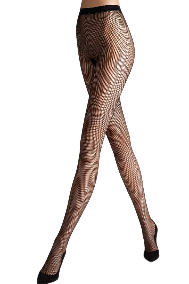 Wolford Women's Twenties Fishnet Tights, Black, Small by Wolford