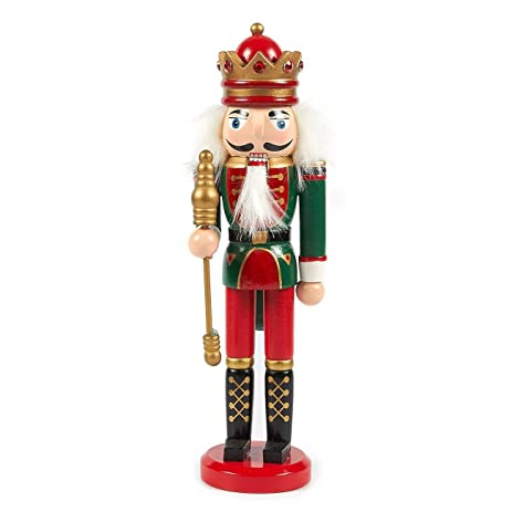 christmas nutcracker doll standing wooden christmas decoration festive ornament for interior display green