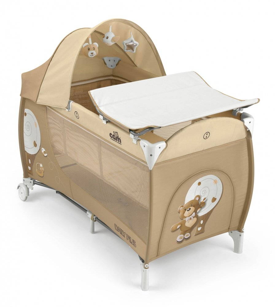 Cam the World of the Children L113 Daily Plus Bed, Bear, Beige CAM Il Mondo del Bambino