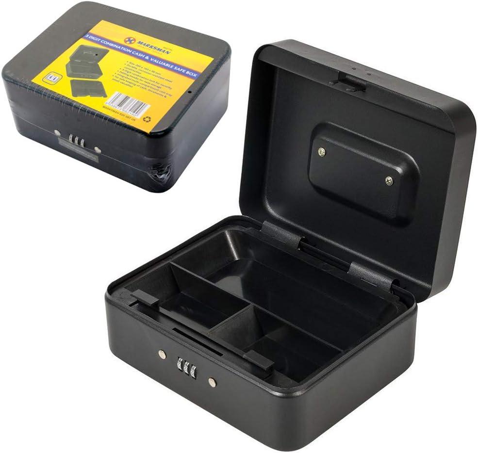 Valuables Safe Box 732370 Silverline Keyless Combination Lock Money Box Cash