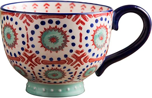 LOYWT Copas de avena grandes, tazas de desayuno, copas de avena, tazones de cereales, copas de leche, cerámica japonesa, tazas de taza de gran capacidad.: Amazon.es: Hogar