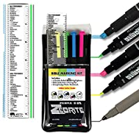 Zebrite Bible Marking Kit (Set of 5 + Ruler)