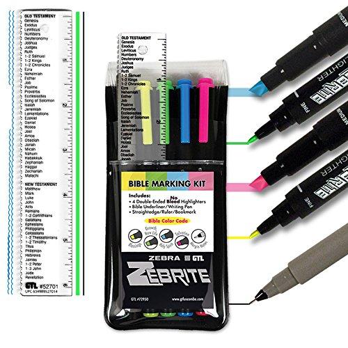 Zebrite Bible Marking Kit (Set of 5 + (Bible Underlining Kit)