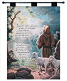 Manual Inspirational Collection 26 X 36-Inch Wall Hanging and Finial Rod, The Lord is My Shepherd