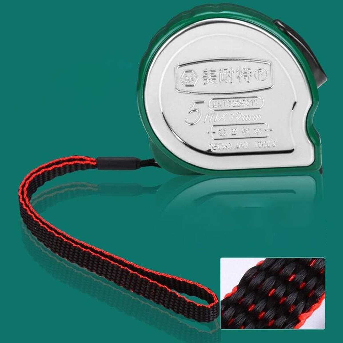 YINJIESHANGMAO Ruler Color : Silver, Size : 5m Steel Tape Measure Box Ruler Ruler Woodworking Measuring Tool 3//5//7.5m