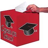Creative Converting Congrats Grad Card Holder Box, Classic Red - 083311