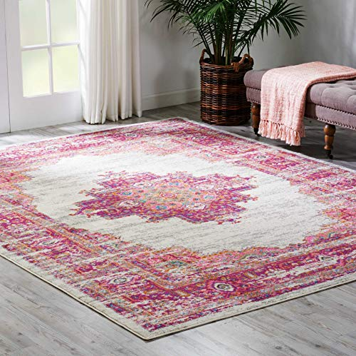 Nourison Passion Traditional Bright Colorful Area Rug, 5'3