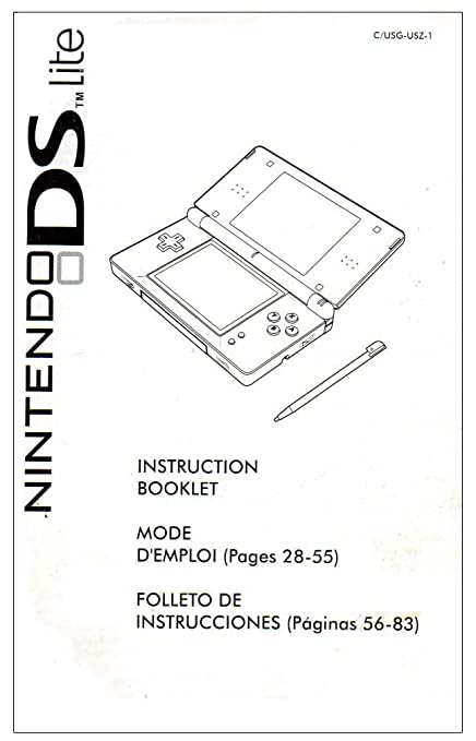 amazon com ds lite system instruction booklet nintendo ds manual rh amazon com nintendo ds lite user manual pdf Nintendo 3DS