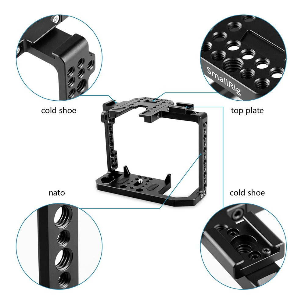 SMALLRIG Camera Cage for Canon EOS 80D with NATO Rail, Cold Shoe - 1789 by SMALLRIG (Image #4)