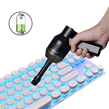 USB Inalámbrico Limpiador de Teclado de Computadora, Boquilla con Cepillo Colector de Polvo para Limpieza