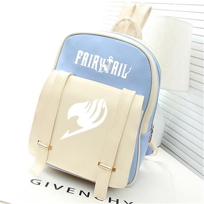 b5613991cd3 Siawasey® Fairy Tail Anime Natsu Dragneel Cartoon Backpack Shoulder School  Bag (Light Blue)
