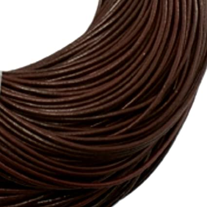 10 Metres 4 mm Round Brown Waxed Cotton Cord//Thong//Thread Quick UK Dispatch