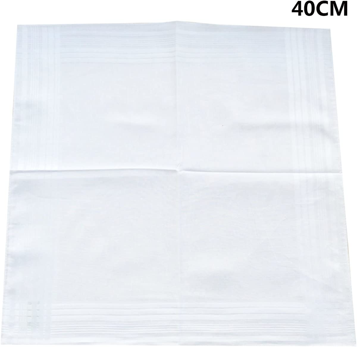 Mens Cotton White Handkerchiefs Pack