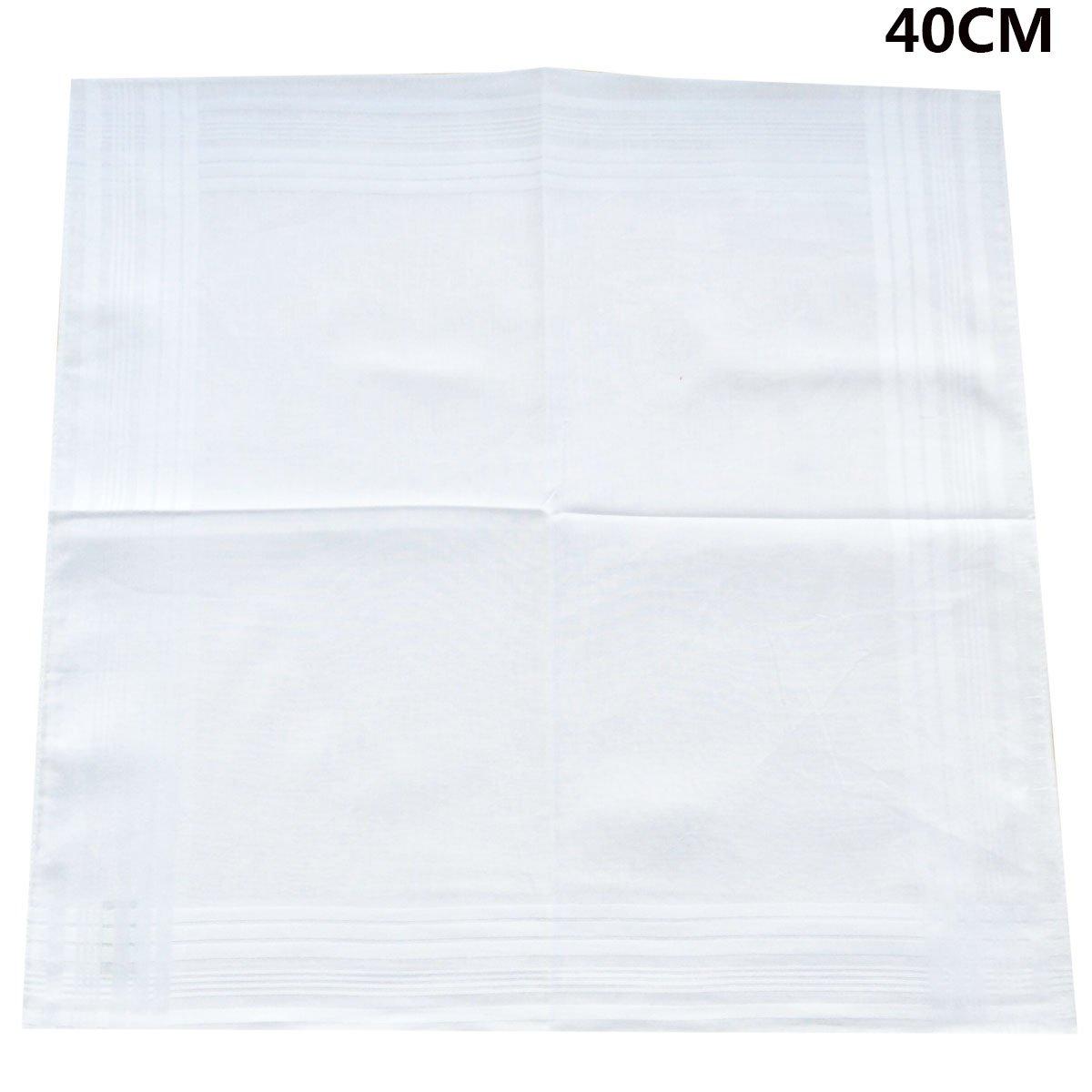 LACS Men's Solid White Cotton Handkerchiefs Pack by LACS Handkerchiefs (Image #5)