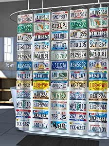 License To Bathe Shower Curtain, 72Hx70W, MULTIPLE