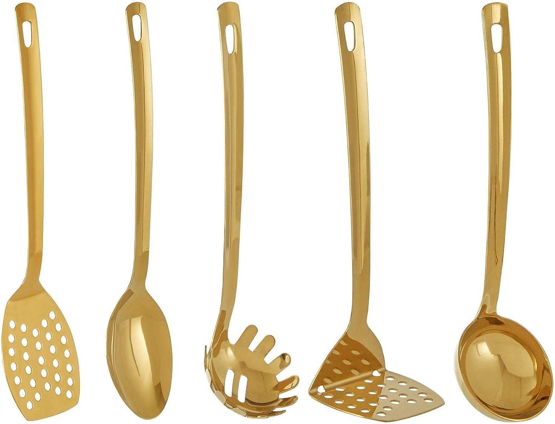 Premier Housewares Freya Gold 5 Piece Utensil Set