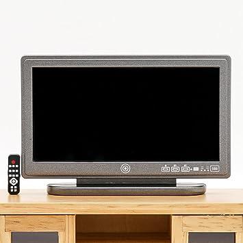 Amazon.es: Odoria 1/12 Miniatura TV Televisión con Remoto Decorativo para Casa de Muñecas: Juguetes y juegos
