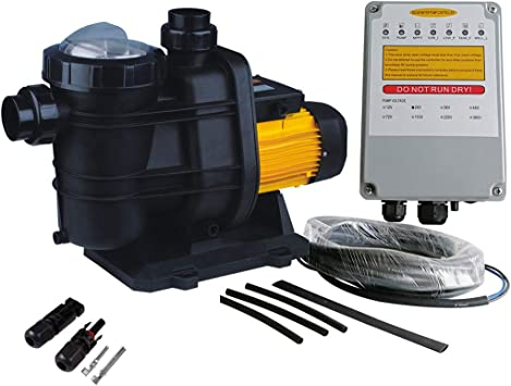Amazon Com Pws Solar Powered Swimming Pool Pump 72vdc 1 6hp 62ft 136gpm Solar Water Pump With Mppt Controller Suitable For Salt Water Jp31 19 1200 Home Improvement