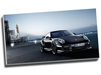 Porsche 911 GT2 RS coche deportivo impresión de Lienzo pared arte imagen lienzo 30 x 16 Inches (76.2 cm x 40,6 cm): Amazon.es: Hogar