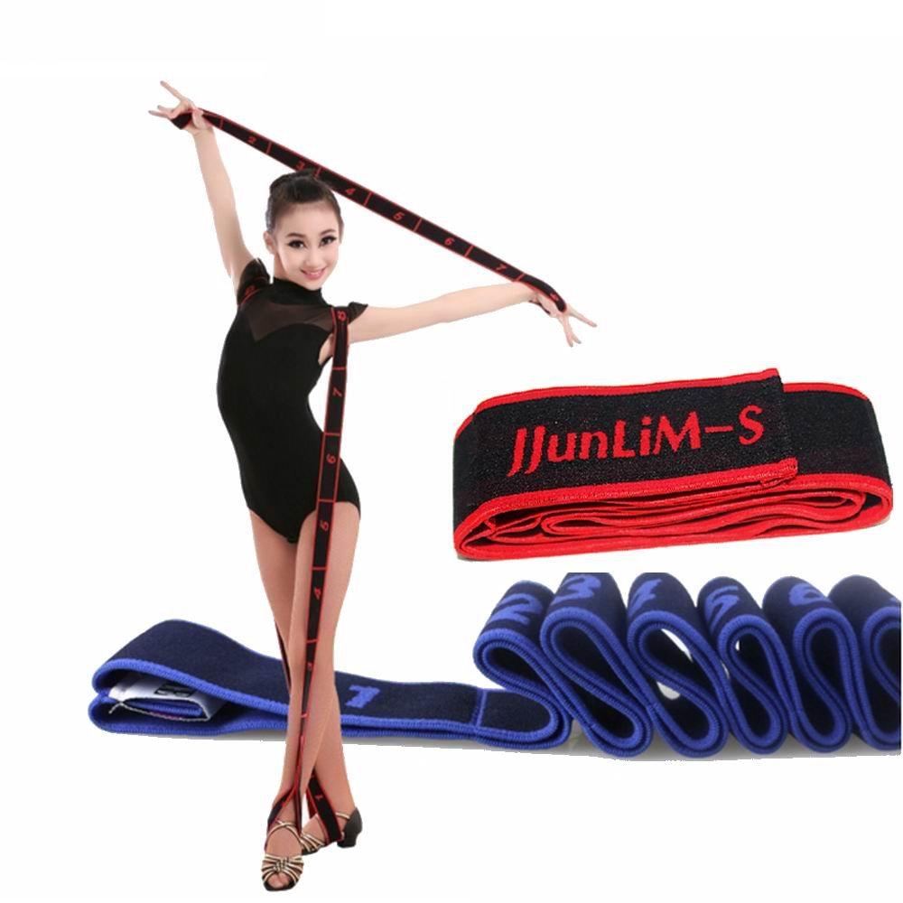 JJunLiM 8 Loop Exercise Bands Kids Adult Latin Bands 15-20 kg Expander Pilates Yoga Stretch Resistance Bands Fitness Elastic Crossfit Dance Training Bands Gymnastics Exercise Bands Workout