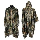 Rain Poncho, LOOGU Waterproof Camouflage Rain Coat Outdoor Camo Shelter Ground Sheet
