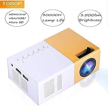 Opinión sobre Video Mini proyector HD, LED para Cine en casa 4K TV Soporte para proyector de películas Teléfono portátil 1080P / HDMI/VGA/USB/TV Box/Laptop/DVD para al Aire Libre(EU)