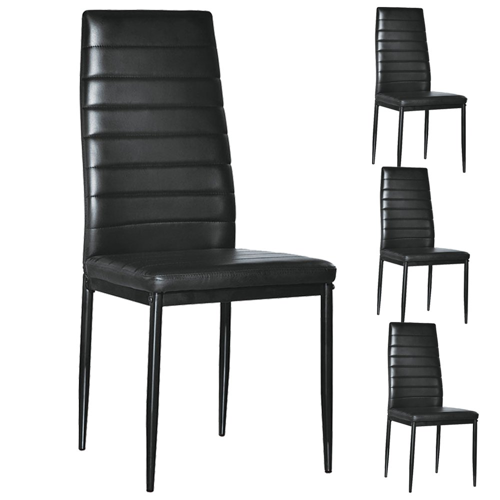 Bonnlo Modern 4 Pieces PU Leather Dining Chairs