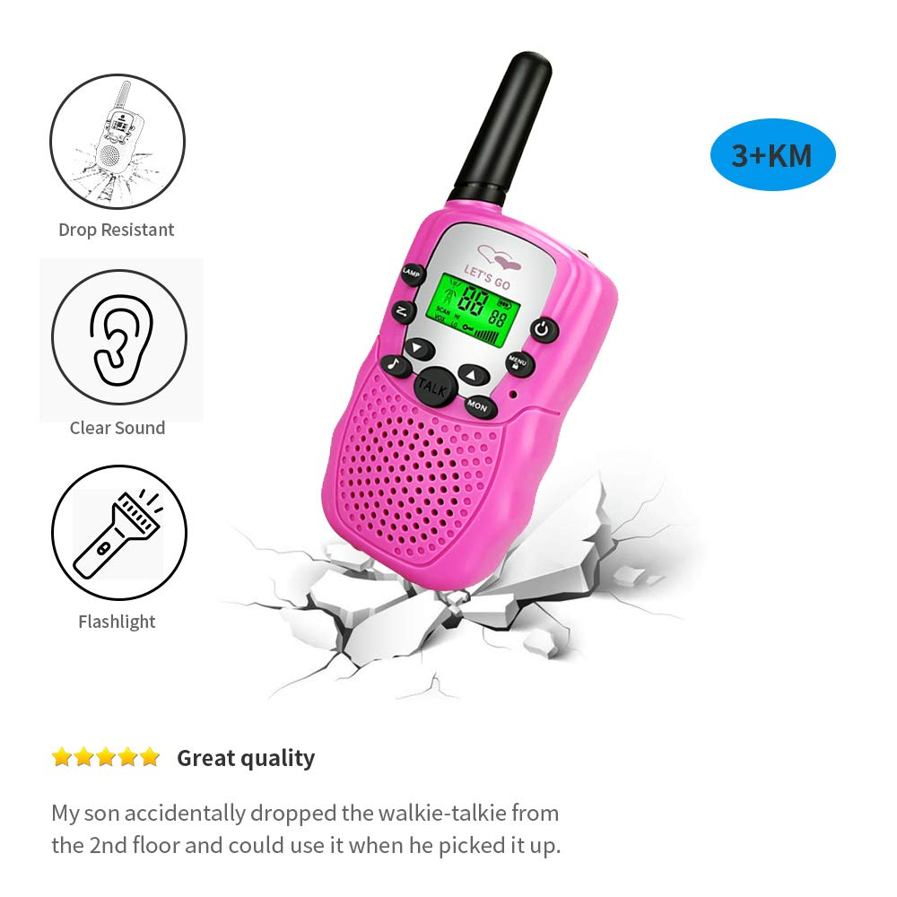 Toys for 5-12 Year Old Boys Girls, Kids Boys Girls Best Walkie Talkie Family 3 Pack Outdoor Toys for Toddlers Age 3-5 Kids 8-12 Best Birthday Gifts for Girls Boys 5-12 DMWTK1 by LET'S GO! (Image #4)