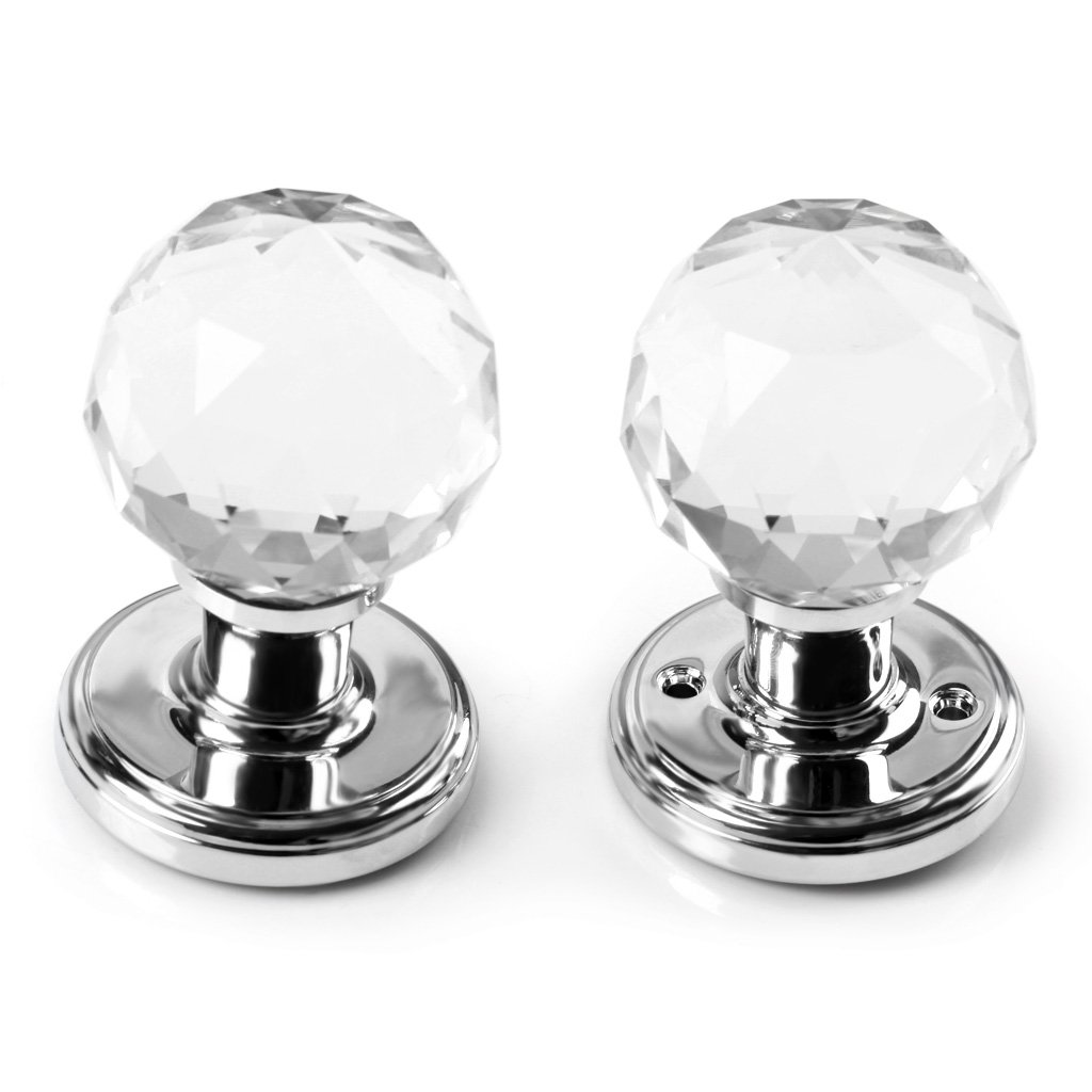 btskytm a pair of 65mm clear extra large crystal glass door knob handle for doors amazoncouk kitchen u0026 home