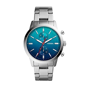 Amazon.com: Fossil Mens FS5434 Townsman Analog Display Analog Quartz Silver Watch: Fossil: Watches