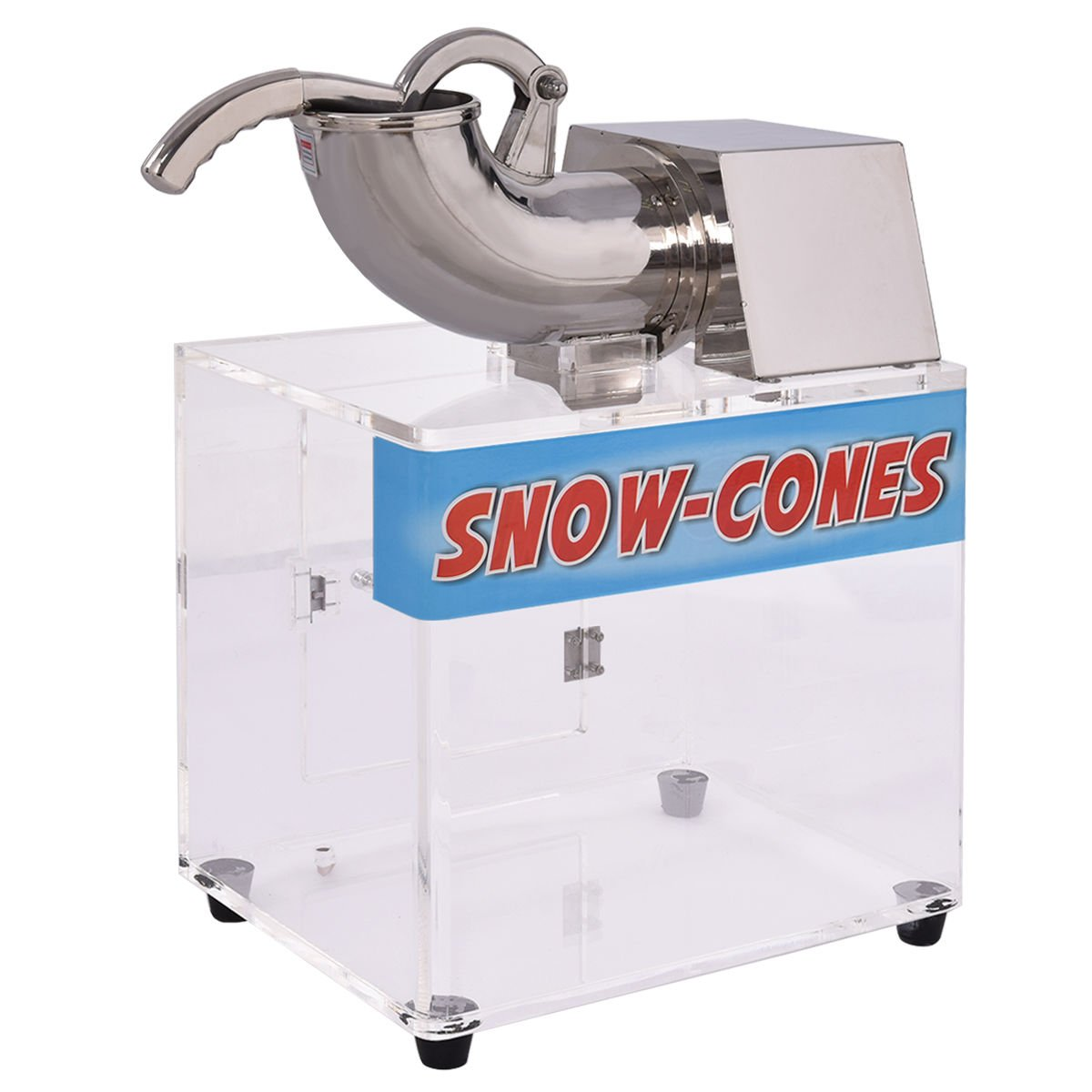 Costzon Electric Stainless Steel Ice Shaver Machine Crusher Snow Cone Maker