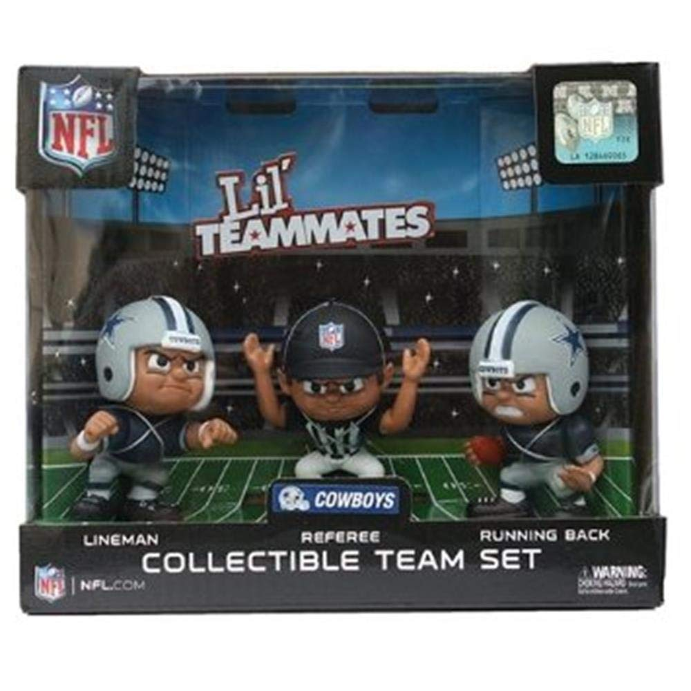 Party Animal Toys Lil' Teammates 3 Figurine Dallas Cowboys NFL Team Set (Pack of 3) Sports Images Inc. PAFBDAL3
