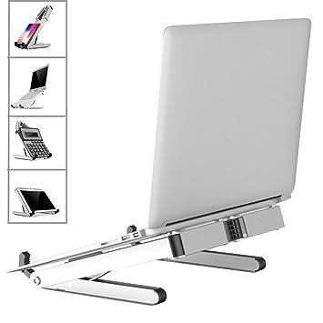 ECOOLBUY Soporte de ordenador portátil ajustable soporte elevador para escritorio de pie, libros, iPad