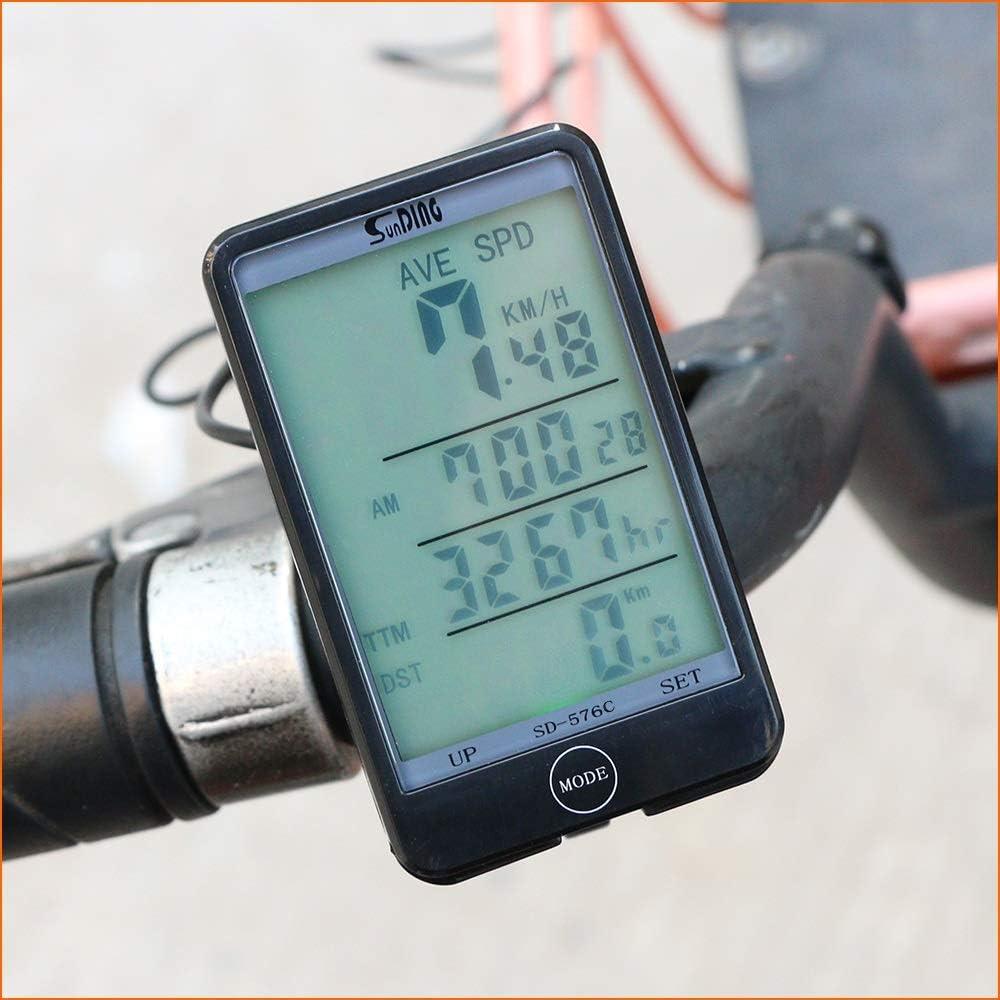 YMYGCC Bicicleta Cuentakilometros Bicicletas inalámbrica del ...