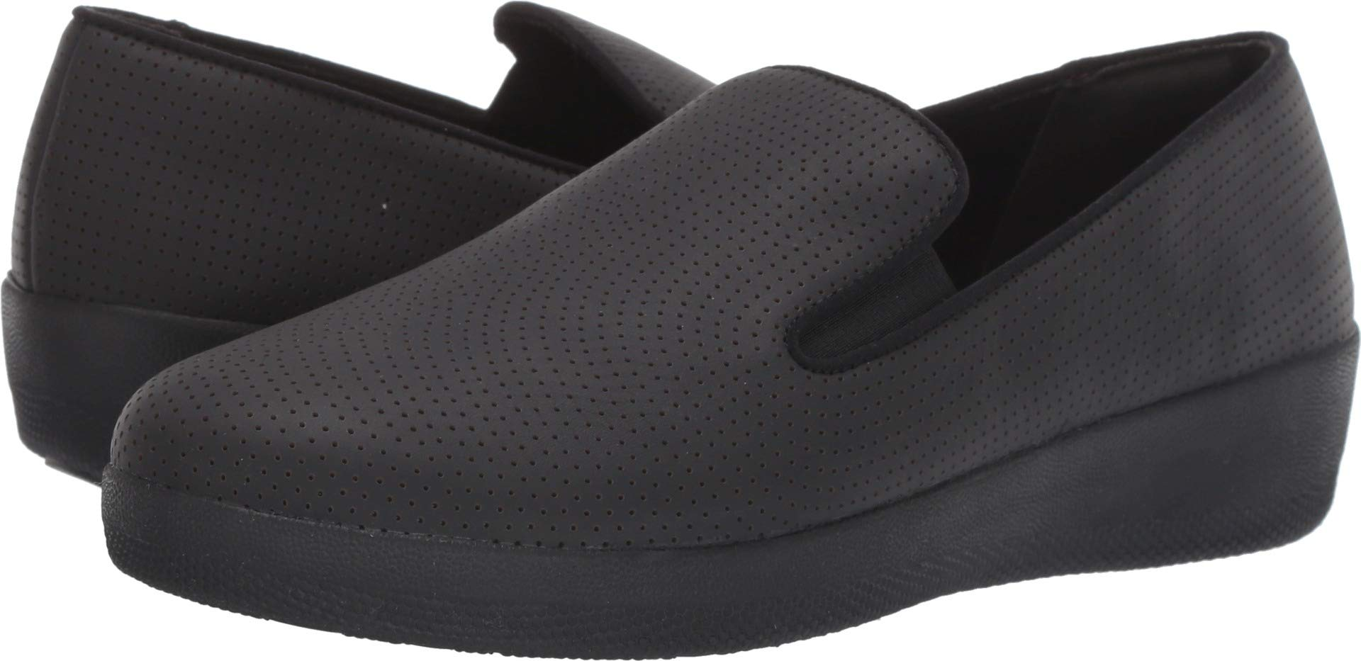 FITFLOP Women's Superskate Perforated Skate Shoe, Black, 6 M US by FITFLOP