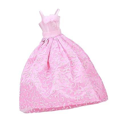 Amazon.es: Vestido Ropa de Novia Boda Vestido Princesa para Muñecas ...